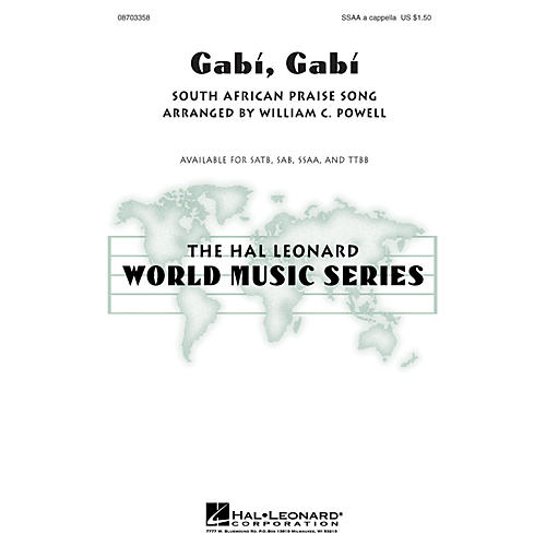 Hal Leonard Gabi, Gabi TTBB A Cappella Arranged by William Powell