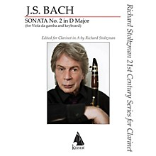 Southern Gamba Sonata No. 2 Clarinet/Piano for Clarinet in A and Piano by Bach