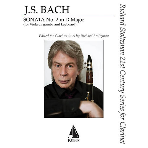 Southern Gamba Sonata No. 2 Clarinet/Piano for Clarinet in A and Piano by Bach