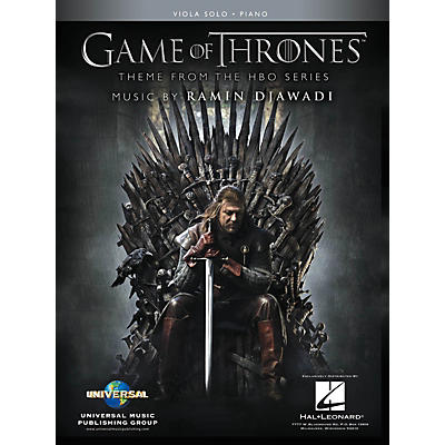 Hal Leonard Game of Thrones for Viola & Piano Instrumental Solo Book