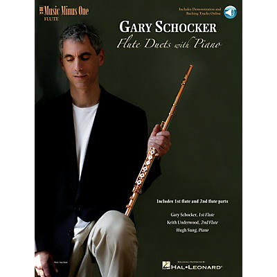 Music Minus One Gary Schocker - Flute Duets with Piano Music Minus One Series Softcover with CD by Gary Schocker