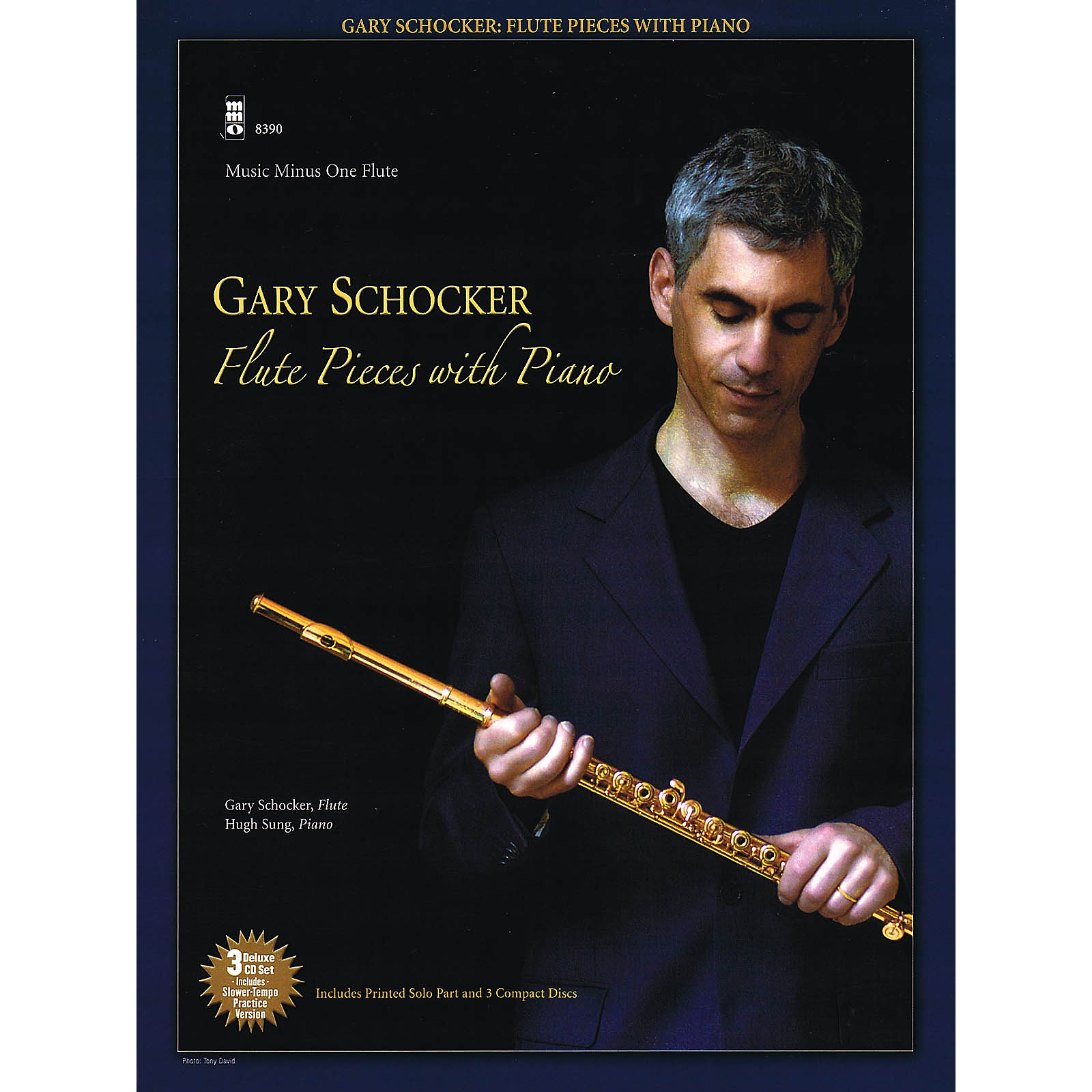 Music Minus One Gary Schocker - Flute Pieces with Piano Music Minus One Series Softcover with CD by Gary Schocker