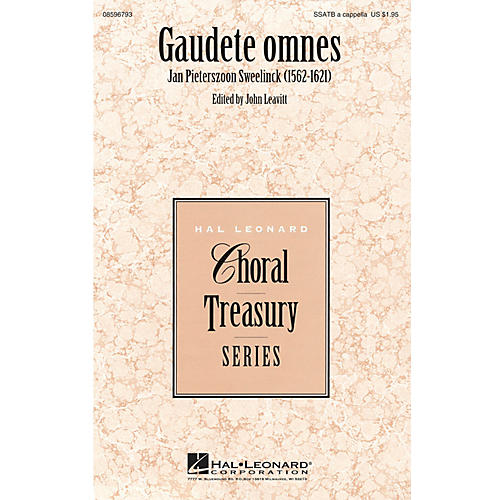 Hal Leonard Gaudete omnes SSATB A Cappella composed by Jan Pieterszoon Sweelinck