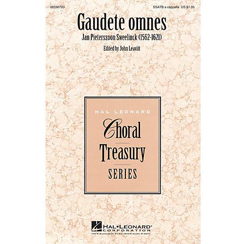 Hal Leonard Gaudete omnes SSATB A Cappella composed by Jan Pieterszoon Sweelinck