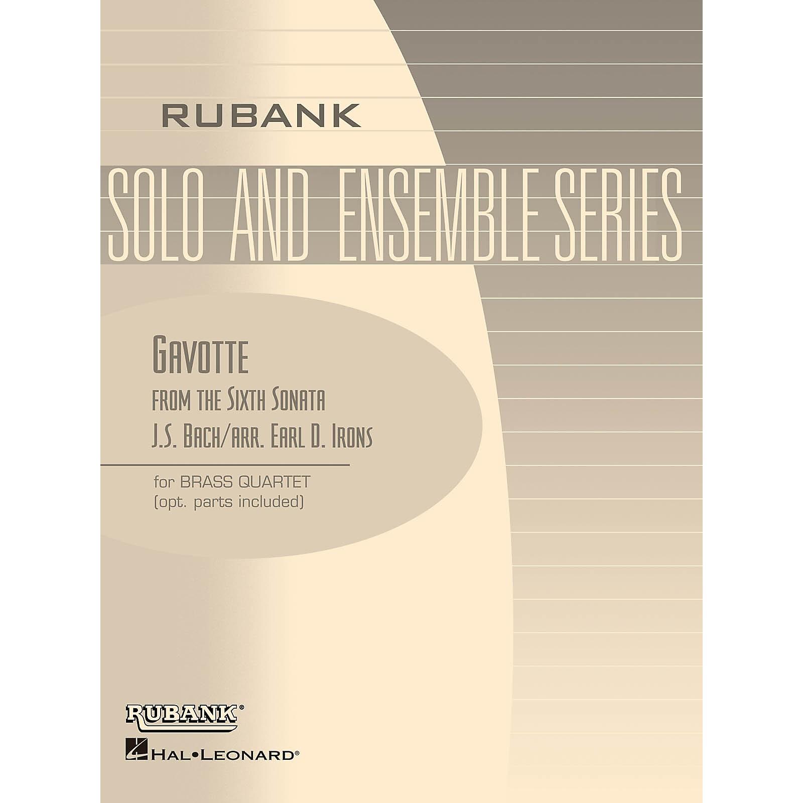 Rubank Publications Gavotte from the Sixth Sonata (Brass Quartet - Grade 2) Rubank Solo/Ensemble Sheet Series