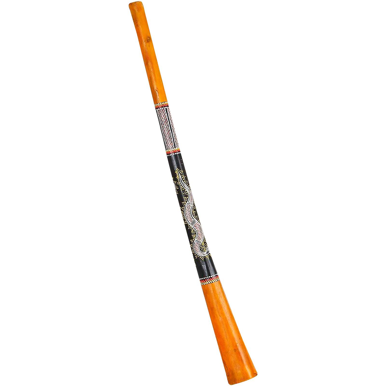 X8 Drums Gecko Painted Teak Wood Didgeridoo