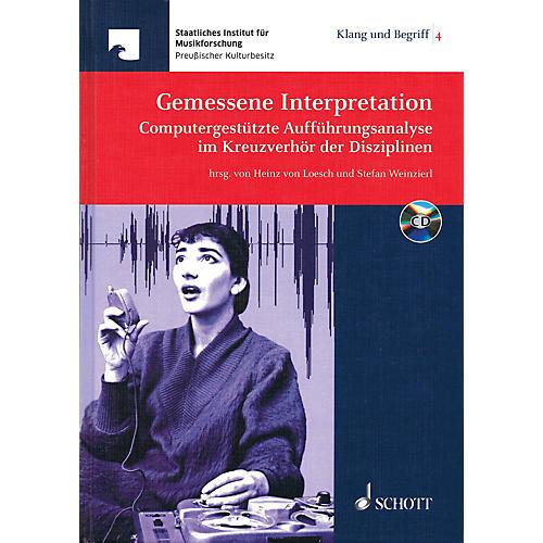 Schott Gemessene Interpretation Schott Series Hardcover with CD