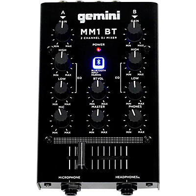 Gemini Gemini MM1BT 2 Channel Mixer with Bluetooth Input