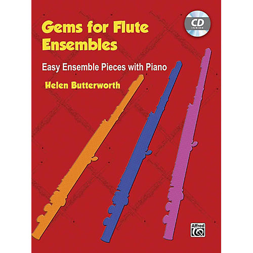 Alfred Gems for Flute Ensembles: Easy Ensemble Pieces with Piano Book & CD