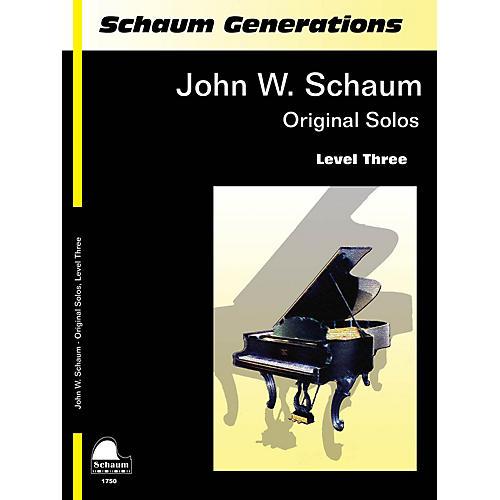 SCHAUM Generations: John W. Schaum Original Solos Educational Piano Series Softcover Composed by John W. Schaum