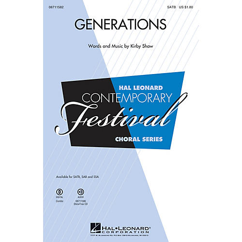 Hal Leonard Generations SATB composed by Kirby Shaw