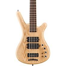 German Pro Series Corvette $$ 5-String Electric Bass Guitar Natural Satin