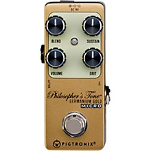 Open Box Pigtronix Germanium Gold Compressor Micro Effects Pedal
