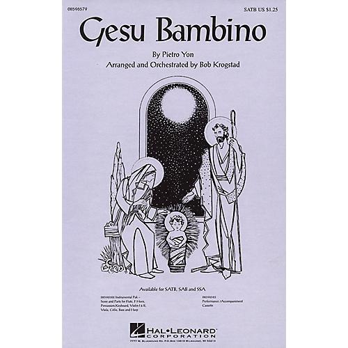 Hal Leonard Gesu Bambino SSA Arranged by Bob Krogstad