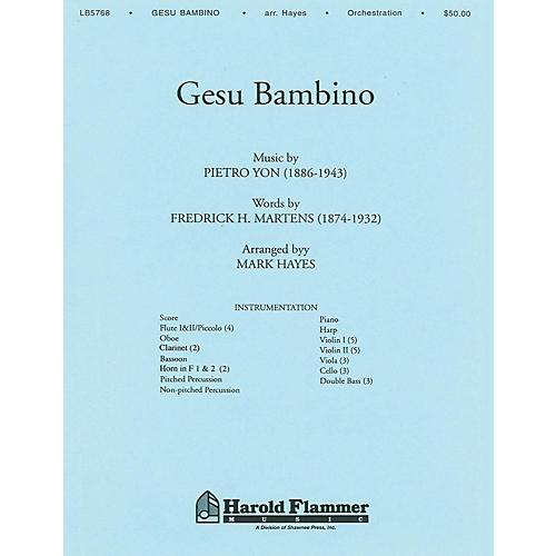 Shawnee Press Gesu Bambino Score & Parts arranged by Mark Hayes