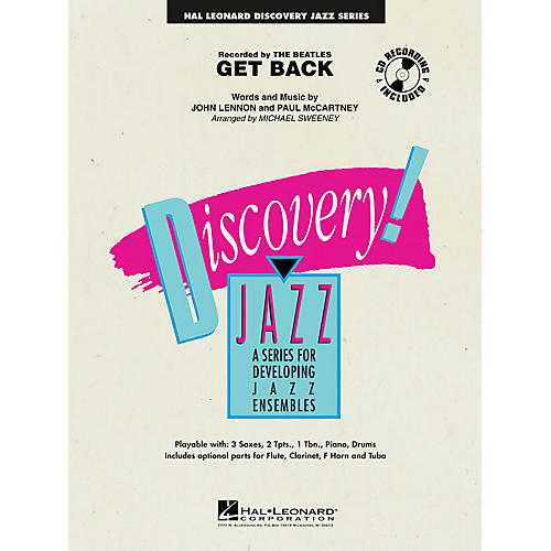 Hal Leonard Get Back Jazz Band Level 1 Arranged by Michael Sweeney