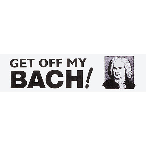 Chesbro Music Co. Get Off My Bach Bumper Sticker