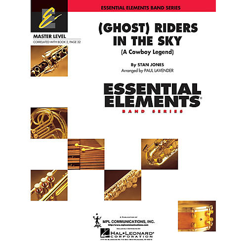 Hal Leonard (Ghost) Riders in the Sky Concert Band Level 2 Arranged by Paul Lavender