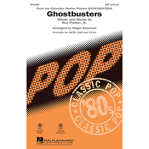 Hal Leonard Ghostbusters SAB arranged by Roger Emerson