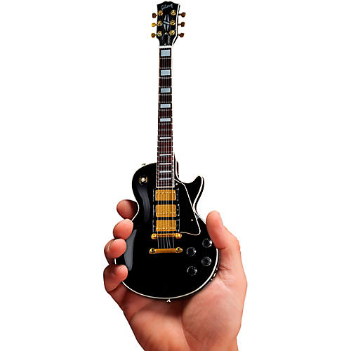 Axe Heaven Gibson Les Paul Custom Ebony Officially Licensed Miniature Guitar Replica