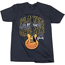 Gibson Played By The Greats Vintage T-Shirt Large Charcoal