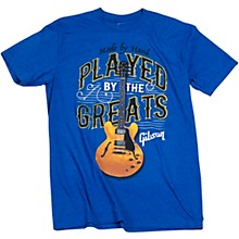 Gibson Played By The Greats Vintage T-Shirt X Large Bright Royal Blue