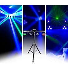 CHAUVET DJ GigBAR 2 4-in-1 LED Lighting System With 2 LED Derbys, LED Wash Light, Laser and 4 LED Strobe Lights