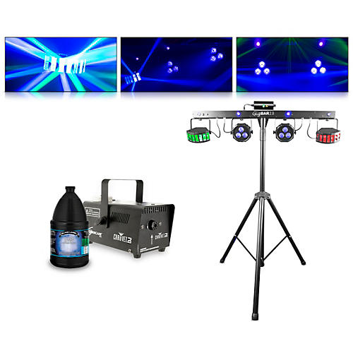 CHAUVET DJ GigBAR 2 with Hurricane 700 Fog Machine and Juice