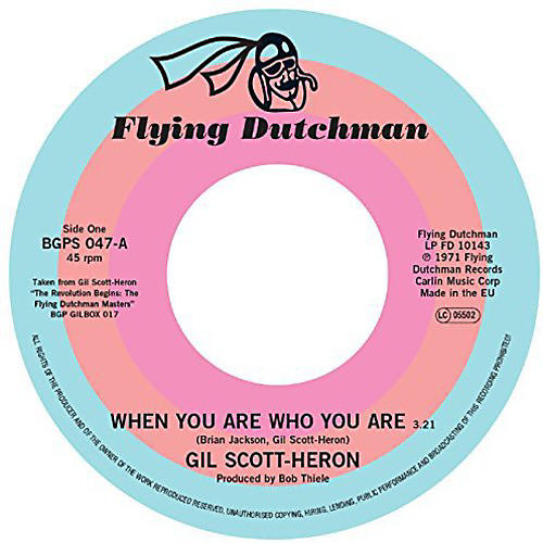 Alliance Gil Scott-Heron - When You Are Who You Are / Free Will