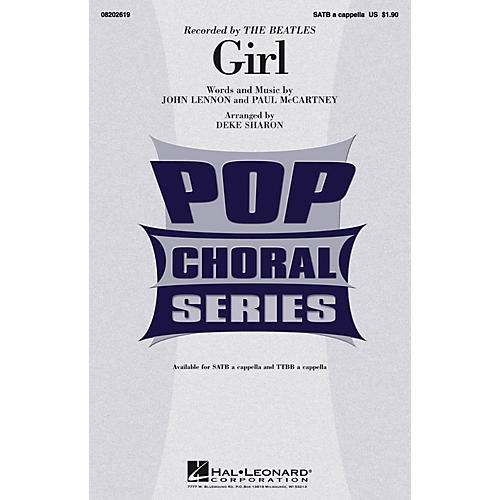 Hal Leonard Girl SATB a cappella by The Beatles arranged by Deke Sharon