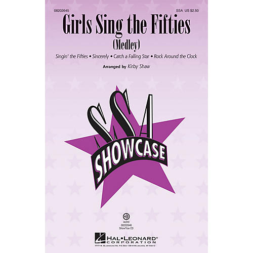 Hal Leonard Girls Sing the Fifties (Medley) ShowTrax CD Arranged by Kirby Shaw