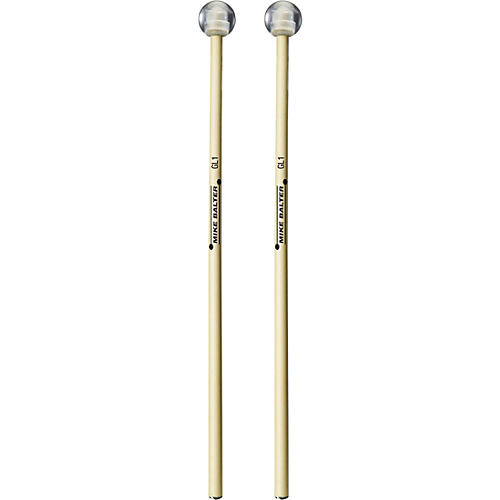 Balter Mallets Glock, Bell and Xylo Series Rattan Handle Bell Mallets Medium Hard Weighted Lexan