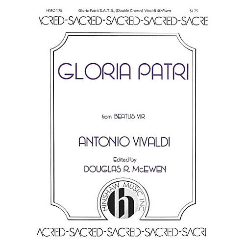 Hinshaw Music Gloria Patri SSAATTBB composed by Antonio Vivaldi