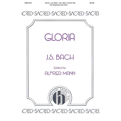Hinshaw Music Gloria SSATB composed by Johann Sebastian Bach