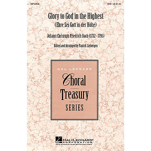 Hal Leonard Glory to God in the Highest (Ehre Sei Gott in der Höhe) SSA Arranged by Patrick Liebergen