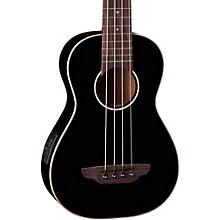 Open BoxLuna Guitars Gloss Black Ukulele Acoustic-Electric Bass