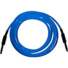 "SoundAssured Glow In The Dark Cable with 1/4 Inch Straight Plugs ""The Original GlowCable"" - Blue"