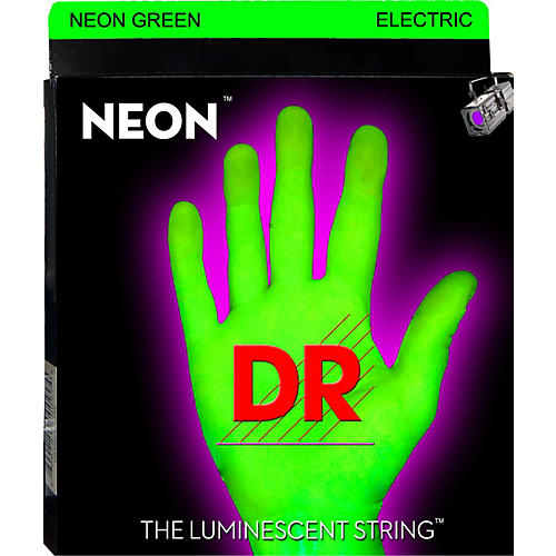 DR Strings Glow in the Dark Green Electric Guitar Strings Light