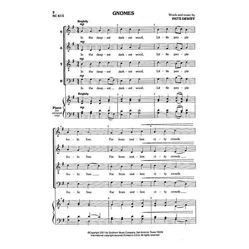 Hal Leonard Gnomes (Choral Music/Octavo Secular Satb) SATB Composed by Dewitt, Patti
