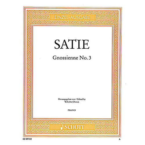 Schott Gnossienne No. 3 Schott Series