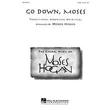 Hal Leonard Go Down, Moses TTBB arranged by Moses Hogan