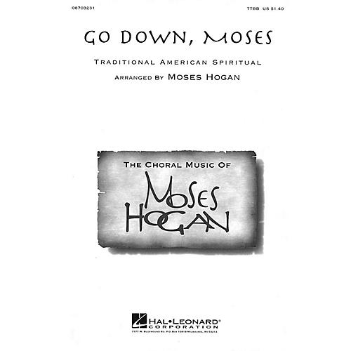 Hal Leonard Go Down, Moses TTBB arranged by Moses Hogan