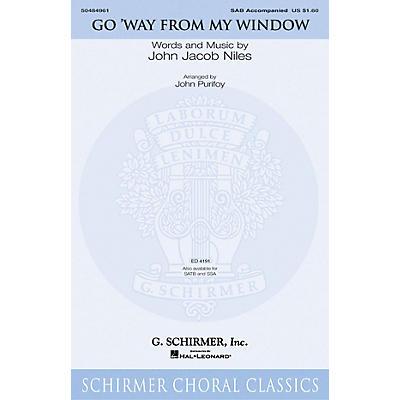 G. Schirmer Go Way from My Window SAB arranged by John Purifoy