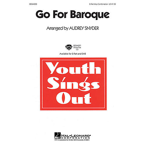 Hal Leonard Go for Baroque SAB Composed by Audrey Snyder