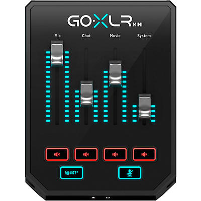 TC Helicon GoXLR Mini - Mixer and USB Audio Interface for Streamers, Gamers and Podcasters