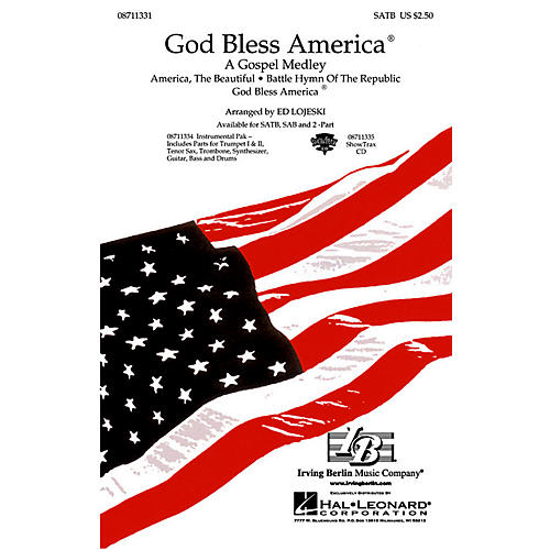 Hal Leonard God Bless America - A Gospel Medley ShowTrax CD Arranged by Ed Lojeski