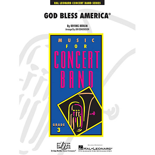 Hal Leonard God Bless America - Young Concert Band Level 3arranged by John Edmondson