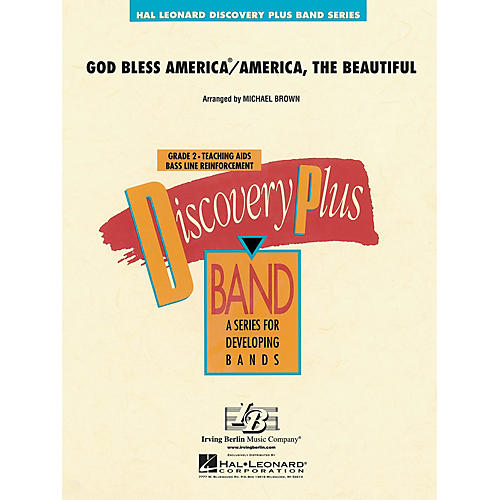 Hal Leonard God Bless America/America, The Beautiful - Discovery Plus Band Level 2 arranged by Michael Brown