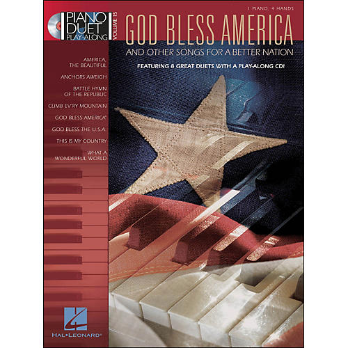 Hal Leonard God Bless America & Other Songs for A Better Nation Pnoduet Play-Along Vol15 Book/CD