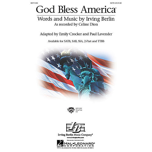 Hal Leonard God Bless America SAB by Celine Dion Arranged by Paul Lavender